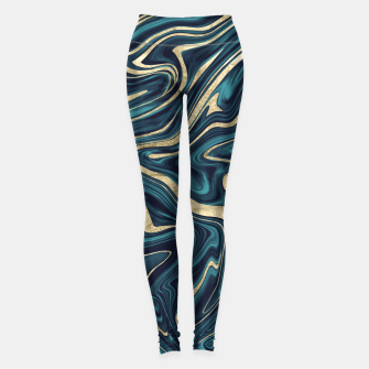 Miniature de image de Teal Navy Blue Gold Marble #1 #decor #art  Leggings, Live Heroes