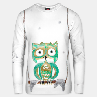 Miniature de image de Owl Fun #1 #mint #green #gold #drawing #decor #art Unisex sweatshirt, Live Heroes