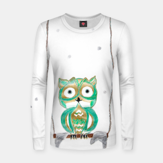 Miniature de image de Owl Fun #1 #mint #green #gold #drawing #decor #art Frauen sweatshirt, Live Heroes