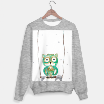 Miniature de image de Owl Fun #1 #mint #green #gold #drawing #decor #art Sweatshirt regulär, Live Heroes
