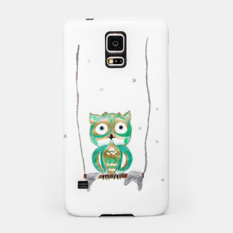 Miniature de image de Owl Fun #1 #mint #green #gold #drawing #decor #art Handyhülle für Samsung, Live Heroes