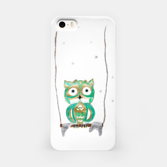 Miniature de image de Owl Fun #1 #mint #green #gold #drawing #decor #art iPhone-Hülle, Live Heroes