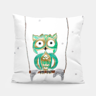 Miniature de image de Owl Fun #1 #mint #green #gold #drawing #decor #art Kissen, Live Heroes