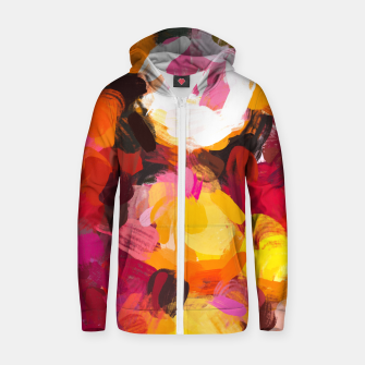 Thumbnail image of Delicious Floral Zip up hoodie, Live Heroes
