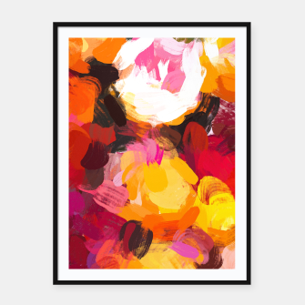 Thumbnail image of Delicious Floral Framed poster, Live Heroes