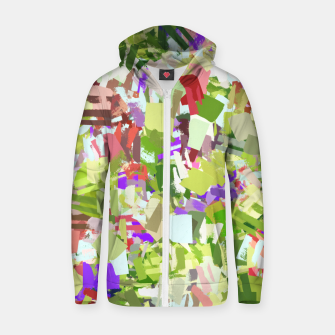 Thumbnail image of Green Freshness Zip up hoodie, Live Heroes