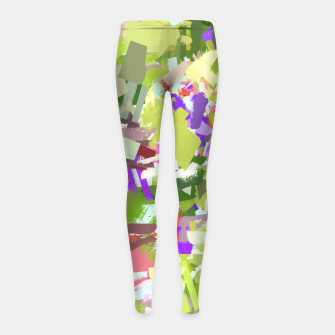 Thumbnail image of Green Freshness Girl's leggings, Live Heroes