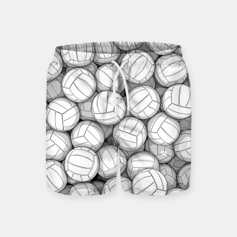 Thumbnail image of All I Want To Do Is Volleyball Swim Shorts, Live Heroes