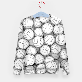 Thumbnail image of All I Want To Do Is Volleyball Kid's sweater, Live Heroes