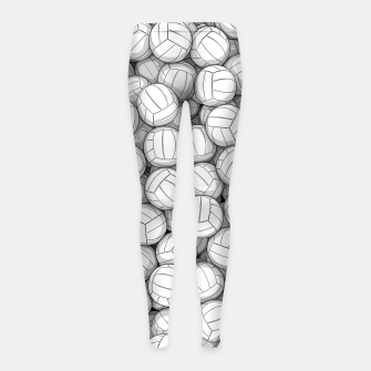 Thumbnail image of All I Want To Do Is Volleyball Girl's leggings, Live Heroes