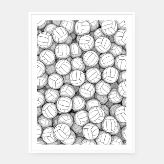 Thumbnail image of All I Want To Do Is Volleyball Framed poster, Live Heroes