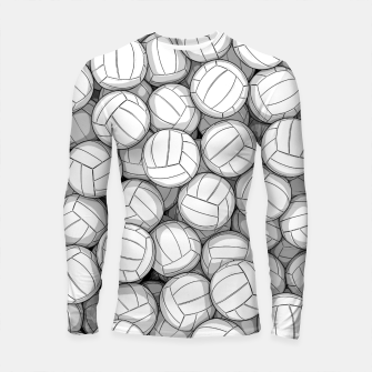 Thumbnail image of All I Want To Do Is Volleyball Longsleeve rashguard , Live Heroes