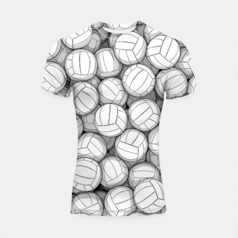 Thumbnail image of All I Want To Do Is Volleyball Shortsleeve rashguard, Live Heroes