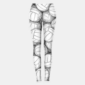 Thumbnail image of All I Want To Do Is Volleyball Leggings, Live Heroes