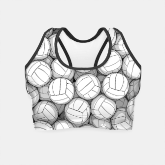 Miniatur All I Want To Do Is Volleyball Crop Top, Live Heroes