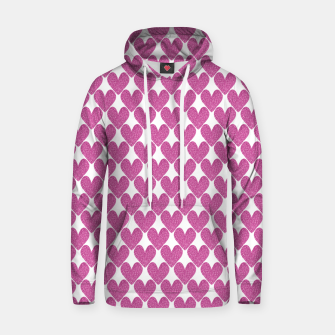 Thumbnail image of  Pink glitter hearts  Hoodie, Live Heroes