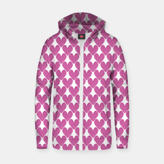 Thumbnail image of  Pink glitter hearts  Zip up hoodie, Live Heroes
