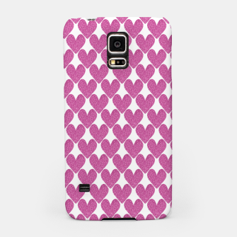 Thumbnail image of  Pink glitter hearts  Samsung Case, Live Heroes