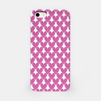 Thumbnail image of  Pink glitter hearts  iPhone Case, Live Heroes