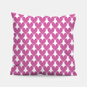 Thumbnail image of  Pink glitter hearts  Pillow, Live Heroes