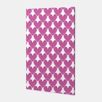 Thumbnail image of  Pink glitter hearts  Canvas, Live Heroes