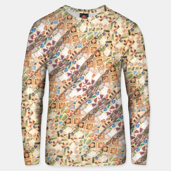 Miniaturka Colorful Mosaic Collage Print Pattern Unisex sweater, Live Heroes