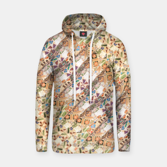 Thumbnail image of Colorful Mosaic Collage Print Pattern Hoodie, Live Heroes