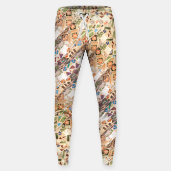 Thumbnail image of Colorful Mosaic Collage Print Pattern Sweatpants, Live Heroes
