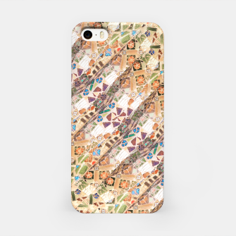 Miniatur Colorful Mosaic Collage Print Pattern iPhone Case, Live Heroes