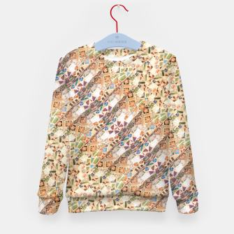 Miniatur Colorful Mosaic Collage Print Pattern Kid's sweater, Live Heroes
