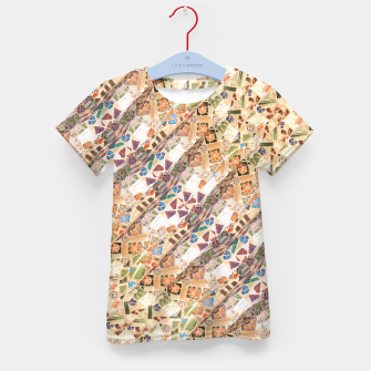 Miniatur Colorful Mosaic Collage Print Pattern Kid's t-shirt, Live Heroes