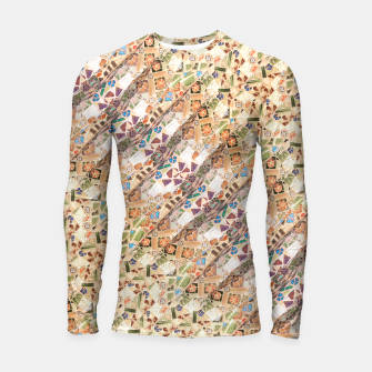 Thumbnail image of Colorful Mosaic Collage Print Pattern Longsleeve rashguard , Live Heroes