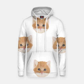 Thumbnail image of Cute yellow cat head pattern Hoodie, Live Heroes