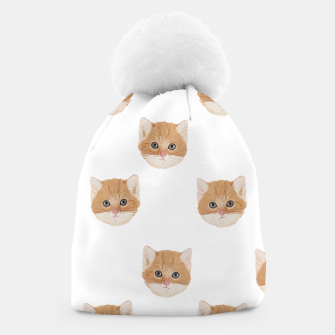 Thumbnail image of Cute yellow cat head pattern Beanie, Live Heroes