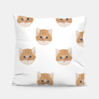 Thumbnail image of Cute yellow cat head pattern Pillow, Live Heroes