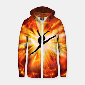 Thumbnail image of Ballet Dancer Zip up hoodie, Live Heroes