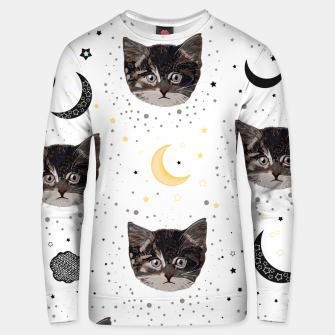 Thumbnail image of Cute cats and space pattern Unisex sweater, Live Heroes