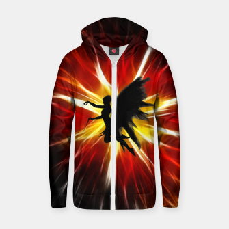 Thumbnail image of Angel Zip up hoodie, Live Heroes