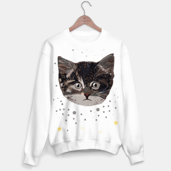 Thumbnail image of Cute cats and space pattern Sweater regular, Live Heroes