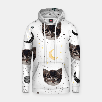 Thumbnail image of Cute cats and space pattern Hoodie, Live Heroes