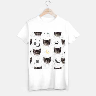 Thumbnail image of Cute cats and space pattern T-shirt regular, Live Heroes