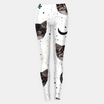 Thumbnail image of Cute cats and space pattern Leggings, Live Heroes