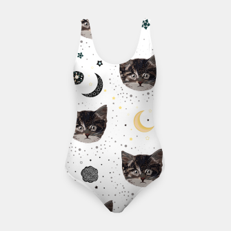 Thumbnail image of Cute cats and space pattern Swimsuit, Live Heroes