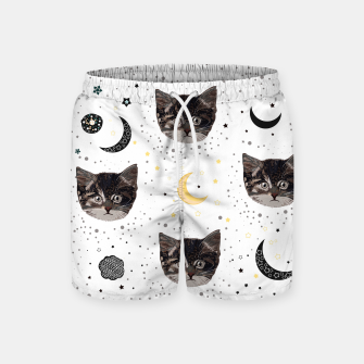 Thumbnail image of Cute cats and space pattern Swim Shorts, Live Heroes