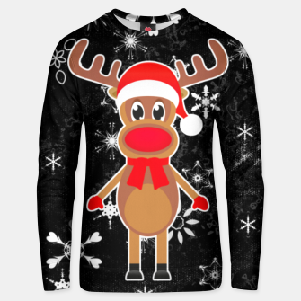 Miniaturka Rudy the Christmas Reindeer Black Unisex sweater, Live Heroes