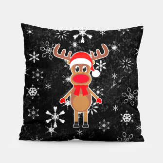 Miniaturka Rudy the Christmas Reindeer Black Pillow, Live Heroes