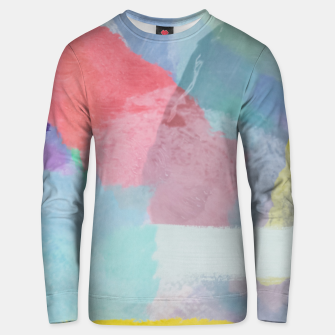 Miniaturka brush painting texture abstract background in pink blue yellow Unisex sweater, Live Heroes