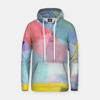 Thumbnail image of brush painting texture abstract background in pink blue yellow Hoodie, Live Heroes