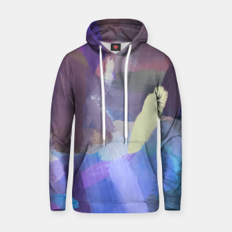Thumbnail image of brush painting texture abstract background in purple blue brown Hoodie, Live Heroes