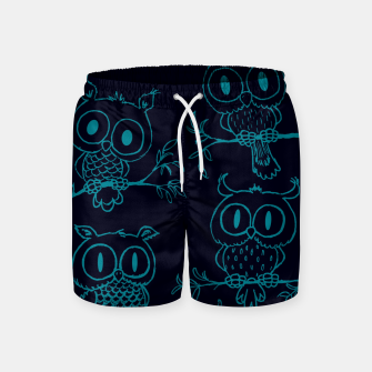 Thumbnail image of Owls in the night Swim Shorts, Live Heroes
